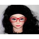 cristal rojo Sekräterinbrille