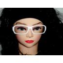 Sekräterinbrille con cristal blanco