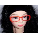 Sekräterinbrille ohne Glas rot