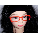 rouge Sekräterinbrille sans verre