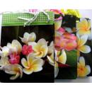 bolsas de regalo de la flor del brillo