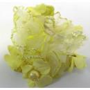 Haarzopfband terciopelo en color amarillo