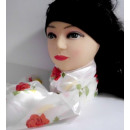 Écharpe brillante avec des roses