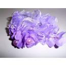Haarzopfband terciopelo en granos púrpuras