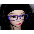 Sekräterinbrille sans verre violet