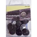8 jean boutons métalliques déchets de cuivre 17mm