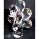 Glaskristall Pfau 7x5,5cm