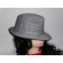 Triby chapeau noir - rayures blanches