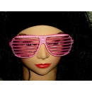 Atzenbrille Strass-Look  pink