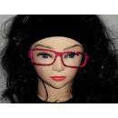 Sekräterinbrille sin vidrio rosado