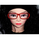 rojo Sekräterinbrille sin cristal