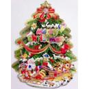 Weihnachtsfensterbilder-Weihnachtsbaum mittel