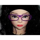 Sekräterinbrille sin cristal violeta