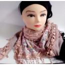 Modelo rosado de la bufanda del triángulo 3