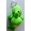 Porte-clés en peluche verte