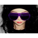 Atzenbrille con cristal violeta