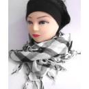 wholesale Fashion & Mode: Arafattuch  checkered gray / black / white