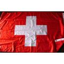 Schweiz Fahne mit 2 Ösen