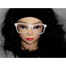 Partybrille ohne Glas weiß