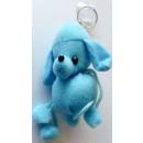 Schlüsselanhänger Plüschbär blau