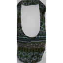 Mantle fabric bags green pattern R.
