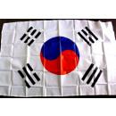la bandera de Corea con 2 ojales