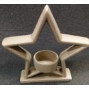 Keramik Teelichthalter in Sternenform