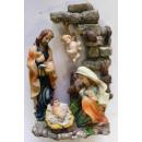 4 figurines décoratives chiffres saints
