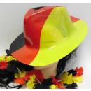 Deutschland Cowboyhut aus Plastik klein