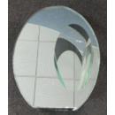Vase en verre avec décor de miroir
