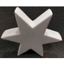 Keramikstern Weiß