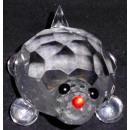 cristal Glass tortugas grande