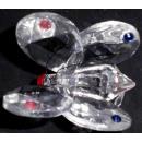 mariposa de cristal de cristal grande