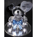 Glass crystal blue bear