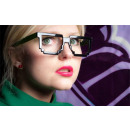 wholesale Glasses: Pixel glasses 8  bit pixel - transparent