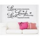 wholesale Wall Tattoos: Wall sticker LIVE LAUGHT LOVE
