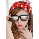 wholesale Glasses: Pixel glasses 8 bit pixel - black / mirror