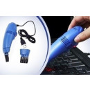 Mini vacuum  cleaner for a USB keyboard - blue