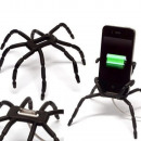 Holder spider on the phone - black