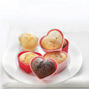wholesale Casserole Dishes and Baking Molds: Silicone molds  HEARTS (set of 6 pcs.)