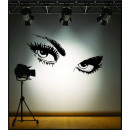 wholesale Wall Tattoos: Sticker Decorative Wall EYES Audrey Hepburn