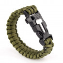 Paracord bracelet 3in1 ARMY GREEN