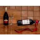 RIBBON wine rack - RED