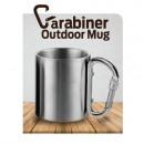Tourist mug with a carabiner