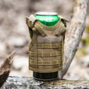 wholesale Coats & Jackets: Tactical vest for a bottle - BROWN