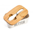 wholesale Knife Sets: Ceramic butter dish with a knife