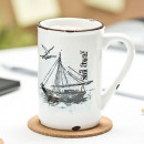 Porcelain cup retro - Sail away