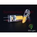 COB LED G4 2W Wtyczka Lampa 12V zimny biały