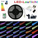 5m RGB 5050 LED running light 54 LEDs / m Kompelet
