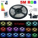 Großhandel Leuchtmittel: 5m RGB LED Strip  5050 60 LEDs/m Komplettset